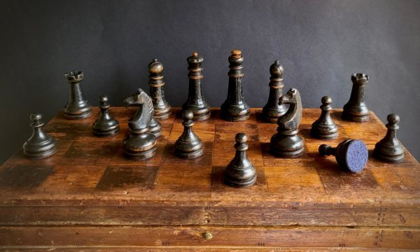 The Imperials Chess Set Black Pieces on Board